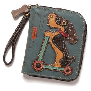 Handbags - Scooting Weiner Dog Wallet